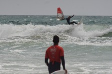 or windsurfing