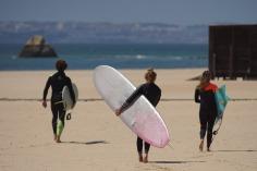 arriving at praia da rocha